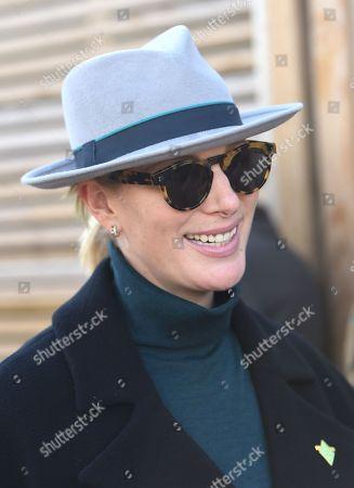 Stock Photo of Zara Tindall arrives at the Cheltenham Festival 2018