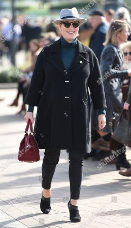 Stock Image of Zara Tindall arrives at the Cheltenham Festival 2018