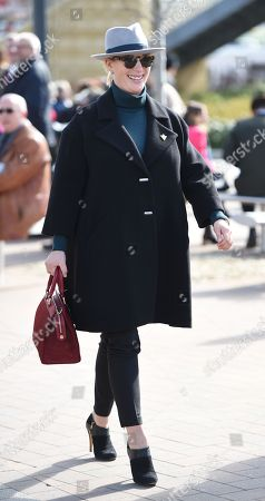 Stock Picture of Zara Tindall arrives at the Cheltenham Festival 2018