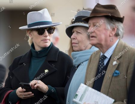 Zara Tindall, Princess Anne and Andrew Parker Bowles at the Cheltenham Festival 2018