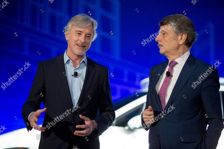 Stock Picture of John Krafcik, Ralf Speth. John Krafcik, left, the CEO of Waymo, and Ralf Speth, the CEO of Jaguar, introduce the Jaguar I-Pace vehicle, in New York. Self-driving car pioneer Waymo will buy up to 20,000 of the electric vehicles from Jaguar Land Rover to help realize its vision for a robotic ride-hailing service