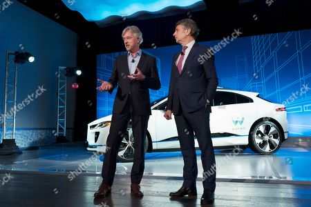John Krafcik, Ralf Speth. John Krafcik, left, the CEO of Waymo, and Ralf Speth, the CEO of Jaguar, introduce the Jaguar I-Pace vehicle, in New York. Self-driving car pioneer Waymo will buy up to 20,000 of the electric vehicles from Jaguar Land Rover to help realize its vision for a robotic ride-hailing service