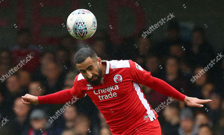 fab00fe362bc Crawley s Aryan Tajbakhsh heads clear during the Sky Bet League 2 match  between Crawley Town and