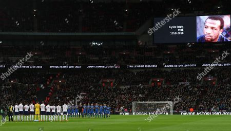 England and Italy  Minutes applause for  Cyrille Regis