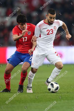 Yeltsin Tejeda competes with Naim Sliti