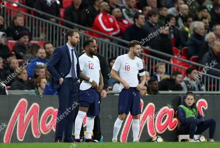 Dany Rose of England and Adam Lallana of England come on as substitutes during pre-World Cup friendlies match between England v Italy played at Wembley Stadium, London, United Kingdom on 27 Mar 2018