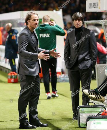 Co Trainer Thomas Schneider, Trainer Joachim Loew    Football / Laenderspiel pre season friendly /  2017/2018 / 27.03.2018 / DFB National Team / GER Germany vs. Brazil BRA 180327044 /