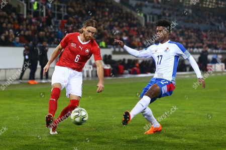 Michael Lang of Switzerland and Luis Ovalle of Panama
