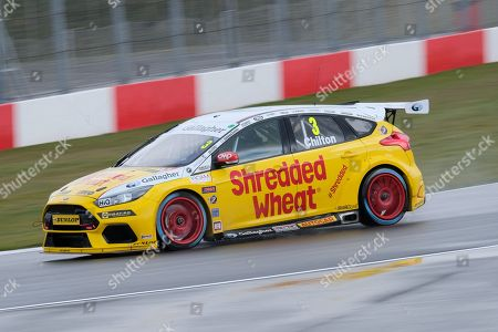 Team Shredded Wheat Racing Motorbase Ford Focus RS 3 Tom Chilton during the BTCC media day at Donington Park, Castle Donington. Picture by Craig McAllister