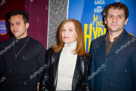 Belkacem Lalaoui, Isabelle Huppert and director Serge Bozon