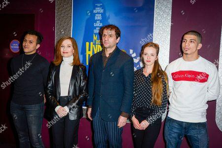 Stock Image of Belkacem Lalaoui, Isabelle Huppert Serge Bozon, Roxane Arnal and Adda Senani