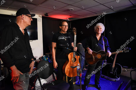 Liberty Devitto, Richie Supa, Russell Javors. Liberty Devitto, left, and Russell Javors, right of The Lords of 52nd Street perform with Richie Supa, center, at Recovery Unplugged Treatment Center during Music Therapy for clients, in Fort Lauderdale, Fla