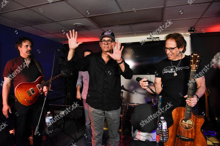 Dennis Delgaudio, Liberty Devitto, Richie Supa. Dennis Delgaudio, left, and Liberty Devitto, center of The Lords of 52nd Street perform with Richie Supa, right, at Recovery Unplugged Treatment Center during Music Therapy for clients, in Fort Lauderdale, Fla