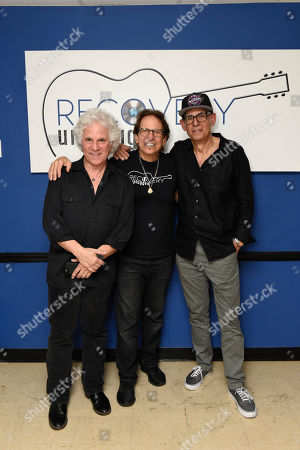Russell Javors, Richie Supa, Liberty Devitto. Russell Javors, left, Richie Supa and Liberty Devitto pose for a photo after their performance. Richie Supa was a guest singer of their band, The Lords of 52nd Street at Recovery Unplugged Treatment Center during Music Therapy for clients, in Fort Lauderdale, Fla