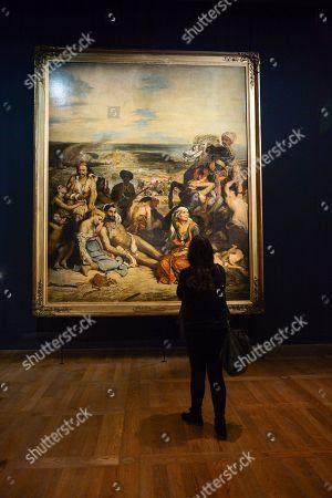Foto Stock Esclusive A Tema Delacroix Exhibition Louvre