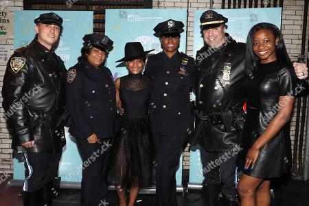 Officer Anthony Grosso, Officer Shayrl Adams, Samantha Stewart, Sgt. Kim Walker, Sgt. Dan Feil and Alexis Stewart