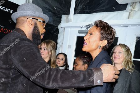 Tyler Perry, Robin Roberts and her partner Amber Laign