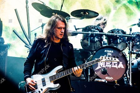 Catton United Kingdom - August 13: Bassist David Ellefson Of American Thrash Metal Group Megadeth Performing Live On Stage At Bloodstock Open Air Festival In Derbyshire On August 13