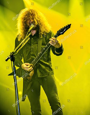 Catton United Kingdom - August 13: Guitarist And Vocalist Dave Mustaine Of American Thrash Metal Group Megadeth Performing Live On Stage At Bloodstock Open Air Festival In Derbyshire On August 13