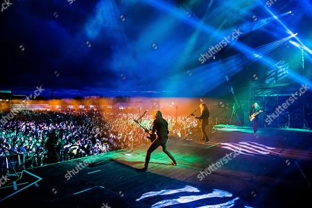 Catton United Kingdom - August 13: American Thrash Metal Group Megadeth Performing Live On Stage At Bloodstock Open Air Festival In Derbyshire On August 13