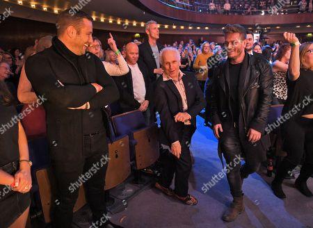 Elliot Wright, Matthew Wolfenden and Wayne Sleep in the audience
