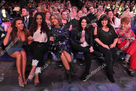 Michelle Heaton, Sarah-Jane Crawford, Victoria Derbyshire, Sally Dexter, Coleen Nolan and Ruth Madoc in the audience
