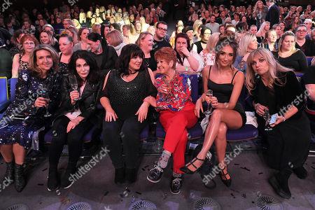 Victoria Derbyshire, Sally Dexter, Coleen Nolan, Ruth Madoc, Megan McKenna and Helen Lederer in the audience