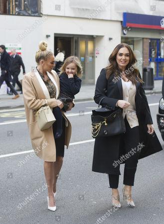 Petra Stunt, Sophia Ecclestone-Rutland and Tamara Ecclestone