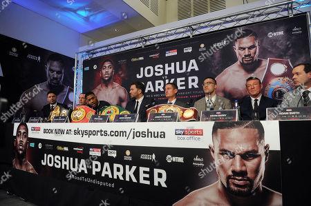 Editorial photo of Anthony Joshua v Joseph Parker Heavyweight title press conference, London, UK - 27 Mar 2018