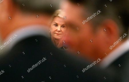 Stock Picture of Elaine Wynn, ex-wife of Steve Wynn, attends a hearing, in Las Vegas. Elaine Wynn has accused her ex-husband and others of getting her off the company's board of directors in 2015 because of her inquiries into company activities. She has claimed that she was not re-nominated to be a board member that year as a result of retaliation