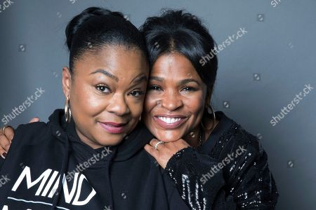 """Roxanne Shante, Nia Long. Roxanne Shante, left, and Nia Long pose for a portrait in New York to promote """"Roxanne Roxanne"""