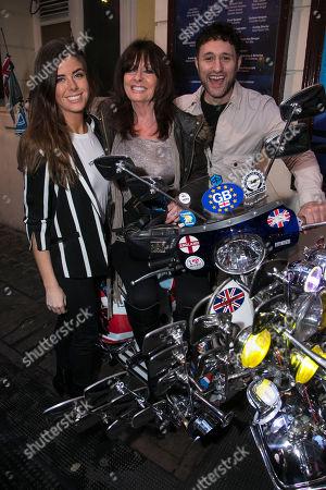 Louise Michelle, Vicki Michelle and Antony Costa