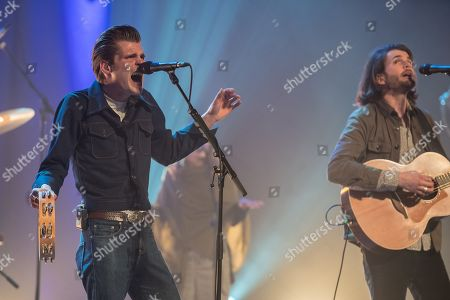 Alfie and Harry from Irish Folk group Hudson Taylor