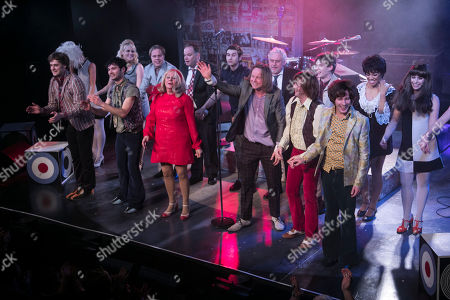 Stock Picture of Stefan Edwards (Kenney Jones), Stanton Wright (Ronnie Lane), Carol Harrison (Author/Kay Marriott), Chris Simmons (Steve Marriott), Samuel Pope (Young Steve Marriott), Joseph Peters (Jimmy Winston) and members of the cast during the curtain call