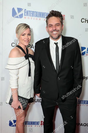 Stock Photo of Kathleen Robertson, Chris Cowles, Producer,