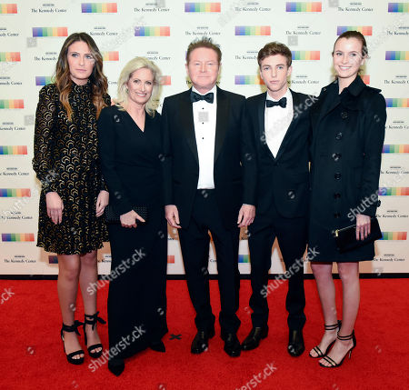 Annabel Henley, Sharon Henley, Don Henley, Will Henley, Sophie Henley. 2016 Kennedy Center Honoree Don Henley, center, of the Eagles arrives with his family, from left, Annabel Henley, Sharon Henley, Will Henley, and Sophie Henley at the State Department for the Kennedy Center Honors gala dinner on in Washington
