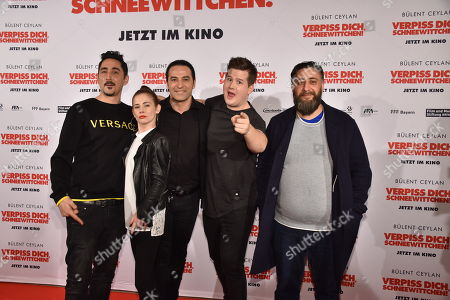 Stock Picture of Eko Fresh, Josefine Preuss, Bülent Ceylan, Chris Tall and  Kida Khodr Ramadan
