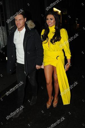 Charlotte Dawson and Matt Sarsfield leave a night club