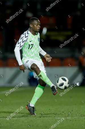 Nigeria's Ogenyi Onazi during the international friendly soccer match between Serbia and Nigeria at The Hive Stadium in London