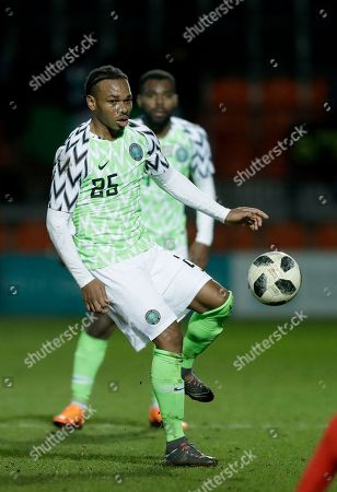 Nigeria's Joel Obi during the international friendly soccer match between Serbia and Nigeria at The Hive Stadium in London