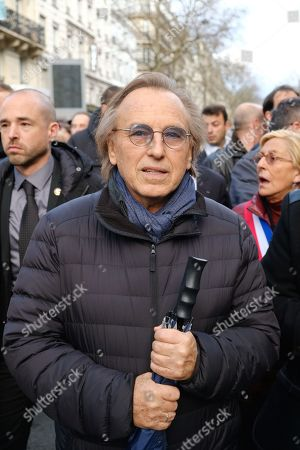 Alexandre Arcady during a march organized by the CRIF in memory of Mireille Knoll, an 85 year old Jewish woman murdered in her home in what police believe was an anti-Semitic attack
