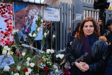 Ambassador of Israel in France Aliza Bin Noun pictured in front of the building where French Jewish Myriam Knoll was murdered during a march organized by the CRIF in memory of Mireille Knoll, an 85 year old Jewish woman murdered in her home in what police believe was an anti-Semitic attack