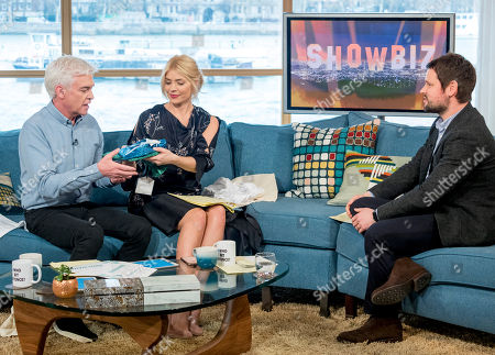Stock Photo of Phillip Schofield and Holly Willoughby with Gordon Smart
