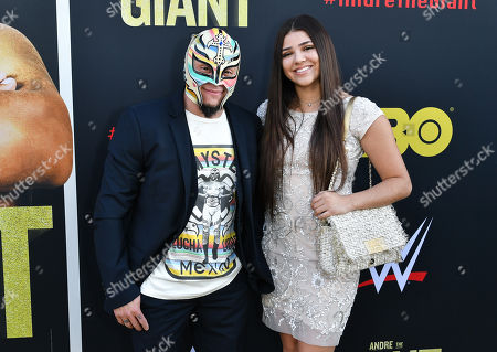 Stock Picture of Rey Mysterio and Aalyah Gutierrez