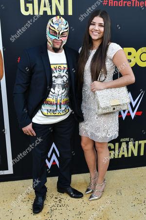 Stock Photo of Rey Mysterio and Aalyah Gutierrez