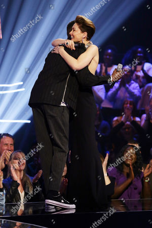 Stock Picture of Mo Jamil, guest performer with Emma Willis