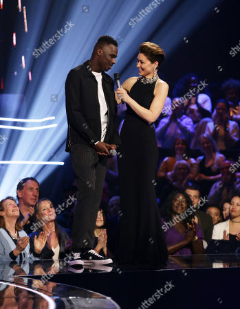 Stock Image of Mo Jamil, guest performer with Emma Willis