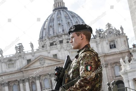 Editorial image of Security boosted during Easter holidays, Rome, Italy, Italia - 29 Mar 2018