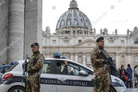Editorial photo of Security boosted during Easter holidays, Rome, Italy, Italia - 29 Mar 2018