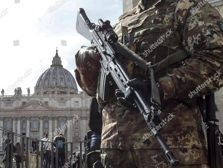 Editorial picture of Security boosted during Easter holidays, Rome, Italy, Italia - 29 Mar 2018